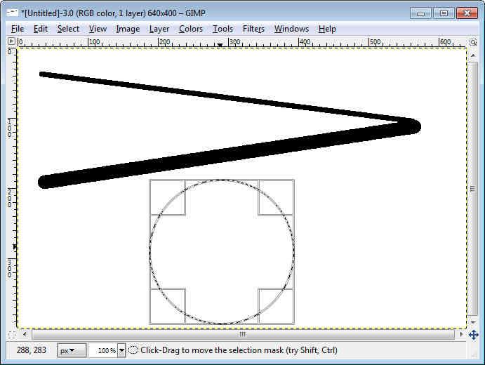 GIMP - Workspace Draw Circle