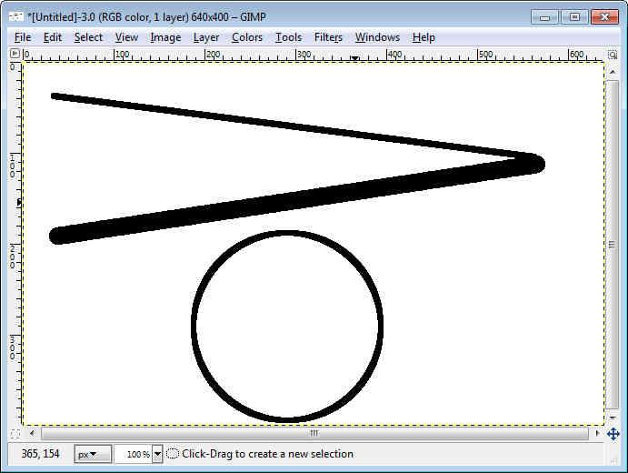 GIMP - Workspace Paint Brush Stroke Style Circle