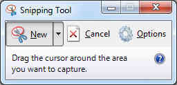 New area to use Snipping Tool on.