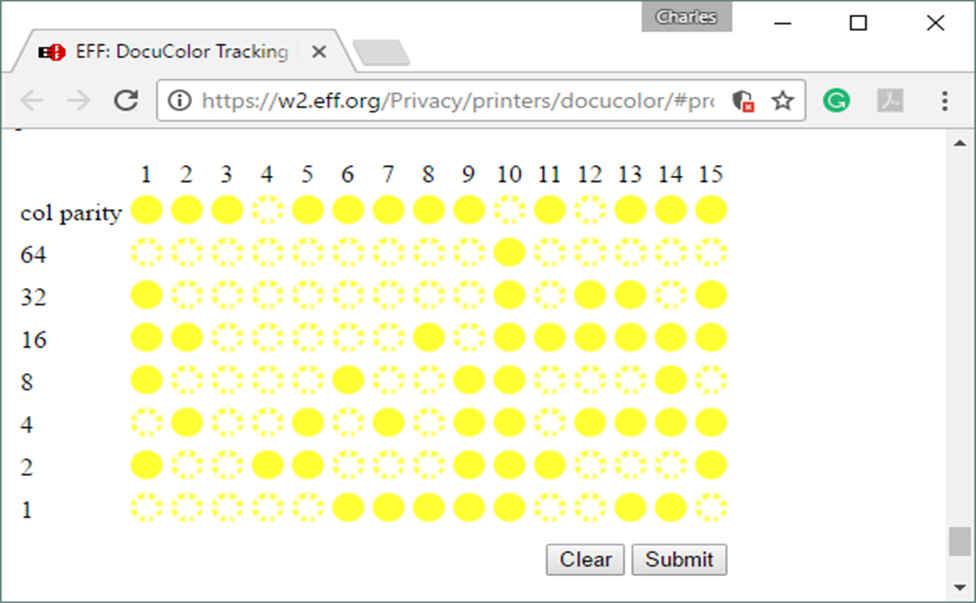 EFF Microdot Pattern